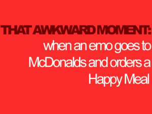 emo, happy meal, ks collection, mcdonalds, that awkward moment