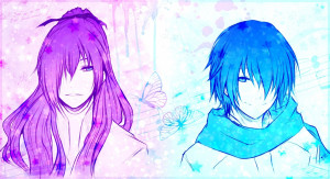 blue vocaloid pink butterfly kaito vocaloid anime boys kamui gakupo ...