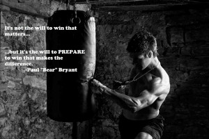 ... to prepare to win that makes the difference.