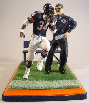 ... are my custom Walter Payton and coach Mike Ditka McFarlane figures