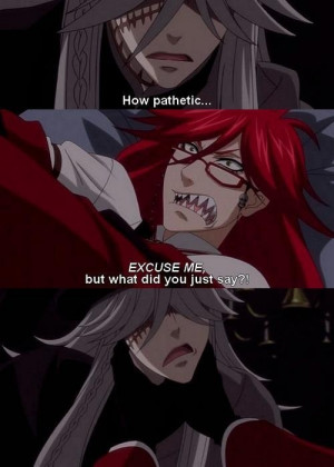 Black Butler ~~ Fighting over being with Will, perhaps? :: Grell VS ...