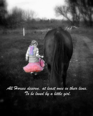 Horses and little girls