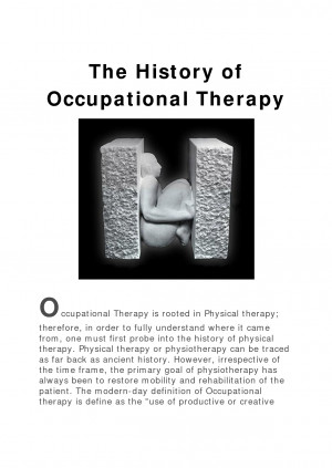 Occupational Therapy report topic