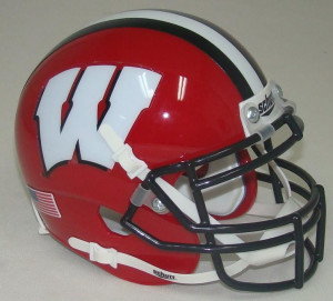 Wisconsin Badgers Alternate Red with Black Stripe Schutt Mini ...