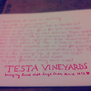 Pinned by Testa Vineyards
