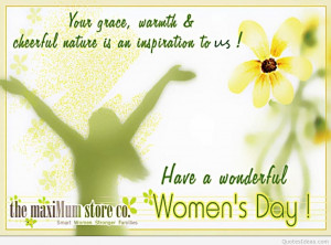 Happy Women's day to all the women's around the world, please all ...