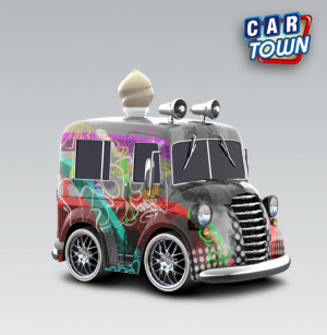 Thread: Graffiti tagged ice cream truck!!!