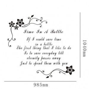 Home » Time In A Bottle - Quote - Wall Decals Stickers