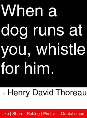 at you, whistle for him. - Henry David Thoreau #quotes #quotations ...