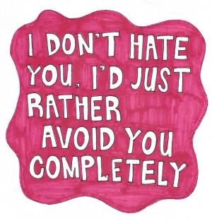 Hating Someone I Hate You Than I Love you
