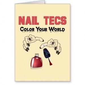 Funny Nail Tech Quotes Funny nail tech card