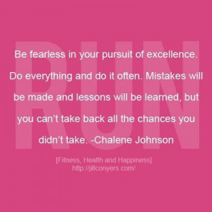 Fearless Chalene Johnson Quote