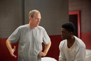 Director Brian Hergeland and star Chadwick Boseman on the set of '42 ...