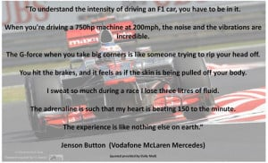 Jenson Button quote regarding the extremes of F1 Racing