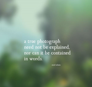 True Photograph Quote by Ansel Adams