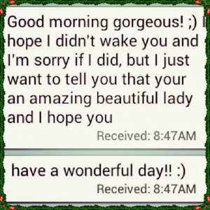 Charming Good Morning Texts for Her!