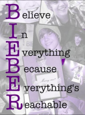 Believe in everything because everything's reachable