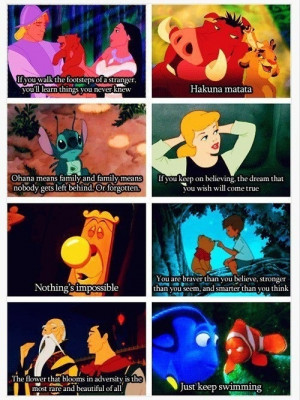 Favorite Disney quotes. Fav= the Nemo one but I love them all