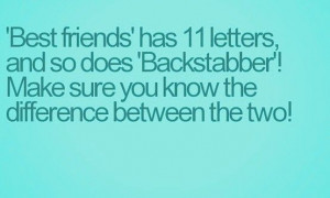Funny Backstabber Quotes