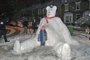 Teddy Bear snowman...