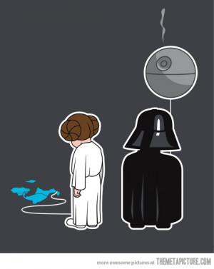 Funny photos funny Darth Vader Princess Leia balloons