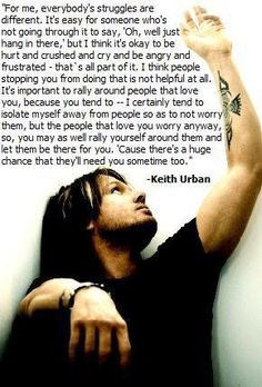 Quote about #addiction #recovery by Keith Urban More