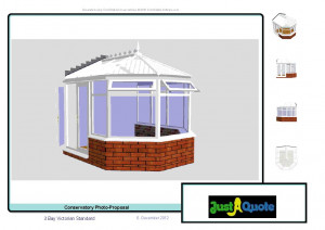... – Computer Generated Image – Three Facet Victorian conservatory