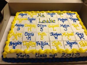 6th grade graduation cake