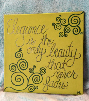 Handmade Audrey Hepburn quote painting Elegance is by WorksByGrace, $ ...