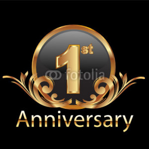 Ilustração vetorial : 1st first anniversary celebration