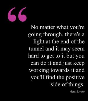 Demi Lovato inspirational quote