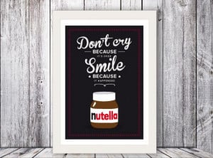 Nutella Italian Kitchen art Quote Giclee by TheShufflePrintsShop, $26 ...