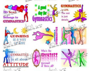 Gymnastics Quotes - 14 Illustration s of Gymnists and their Sport all ...