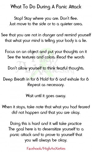 What To Do During A Panic Attack