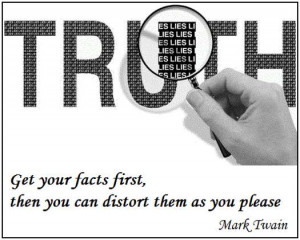 Get your facts first, and then you can distort them as much as you ...
