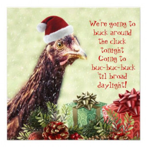 Chicken Christmas funny