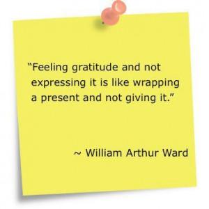 Always express your Gratitude.