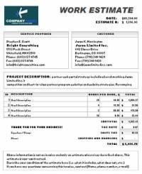 top4download.comExcel work estimate invoice
