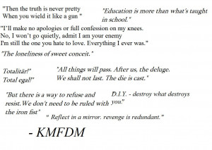 Inspirational Kmfdm Lyrics...