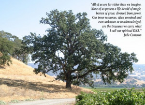 Large Oak Tree with Quote