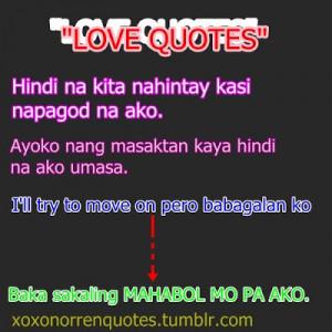 Tagalog love quotes tumblr