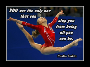 Gymnastics Poster Nastia Liukin Photo Quote Wall Art 5x7