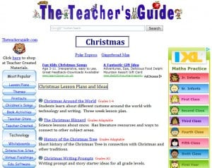 selection of Christmas Resources from the Teacher's Guide website ...