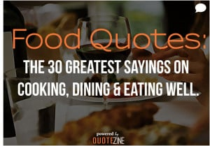 Quotes About Food