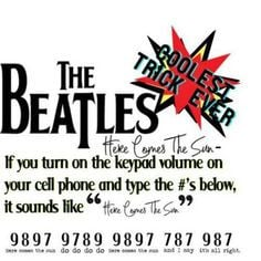 "beAtles+quotes | ... to "" Here Comes The Sun - The Beatles - Keypad ..."