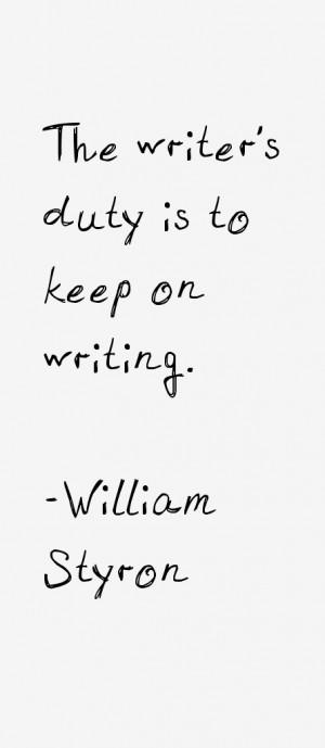 William Styron Quotes amp Sayings