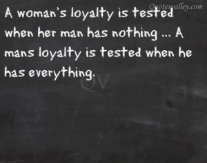 Woman's Loyalty Is Tested When Her Man Has Nothing