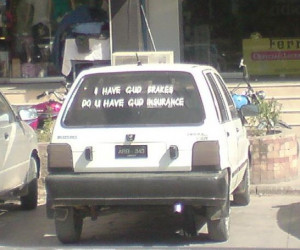 ... , Do u have gud insurance? - Funny stickers on cars - Transport Nama