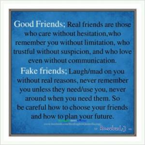 good friends/fake friends