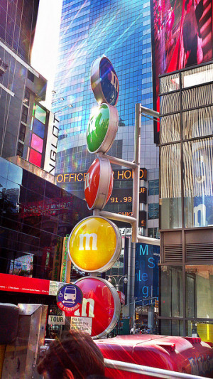 candy, colorful, m&m, new york, nyc